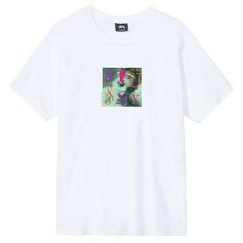 Venus Square Tee in White