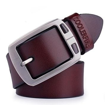 Cowhide Genuine Leather Fashion Belts Men ✈ Worldwide Delivery