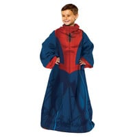 Spiderman- Spider Up Youth Comfy Throw Blanket w-Sleeves