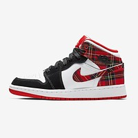 "Air Jordan 1 Mid ""White Plaidâ€"