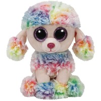 """TY Beanie Boos Rainbow the Multi Color Poodle Small 6"""""""
