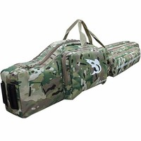 "47"" Tactical hunting carry hand case 1.2m long rifle gun slip double hunting backpack bag Multicam free shipping ht098"