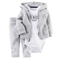 Carters Newborn 6 9 12 18 Months Cardigan Pants Set Baby Boy Outfit Clothes Grey = 5618774721