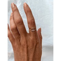 Arrow Ring 18k Gold Dipped