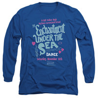 Back to the Future Under the Sea Royal Blue Long-Sleeve T-Shirt