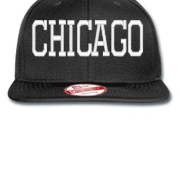 CHICAGO EMBROIDERY HAT - New Era Flat Bill Snapback Cap