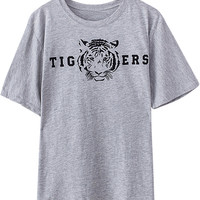 Grey Tiger Printed Tee