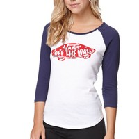 Vans Star Raglan T-Shirt - Womens Tee - White