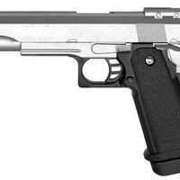 metal spring powered full scale high power 1 1 silver metal airsoft pistol 320-fps airsoft gun shoots extremely hard and accurate(Airsoft Gun)
