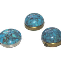 Turquoise Button Covers, Vintage Button Covers
