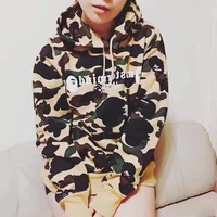 Pullover Hats Hip-hop Camouflage Embroidery Couple Hoodies [11218583879]