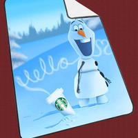 """Hello olaf Starbucks Kids Blanket Game Blanket All Character Popular Game, Cute and Awesome Blanket for your bedding, Blanket fleece """"NP"""""""