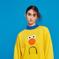 Don't Hug Me I'm Scared for Lazy Oaf Yellow Guy Sweatshirt
