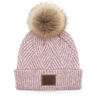 CC Criss Cross Beanie - Rose