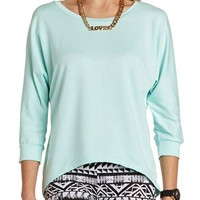 FRENCH TERRY HI-LOW TUNIC