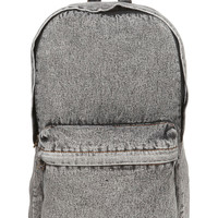Black Denim Acid Wash Backpack - View All - New In - TOPMAN USA