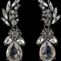 Gold Drop Diamond Earrings