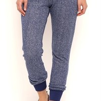 Marled Knit French Terry Jogger Pants