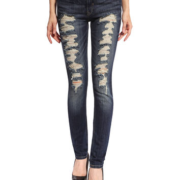 Hailey Distressed & Ripped Skinny Jeans