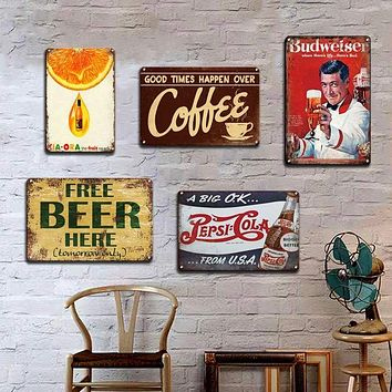 Guinness Cola Vintage Tin Metal Sign 20x30cm Pop Decor Home Bar Pub Man Cave Nostalgia Advertisement Poster Art Wall|Plaques & Signs