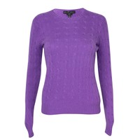 Slim Fit Cashmere Cable Knit Sweater
