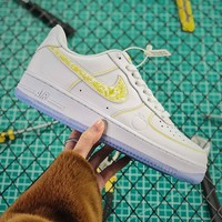 Nike Air Force 1 Low Af1 White Gold Fashion Shoes - Best Online Sale