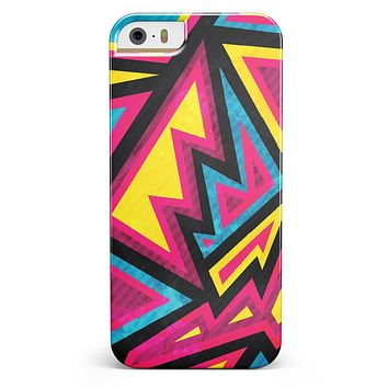 Crazy Retro Squiggles V2 iPhone 5/5s or SE INK-Fuzed Case