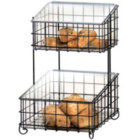 14W x 17D x 21H 2 Tier Wire Frame with Inserts Chrome