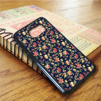 Vintage Floral Flowers Pattern Samsung Galaxy S6 Edge Case