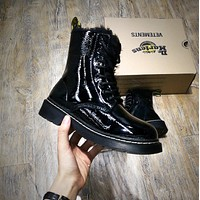 Newest Dr. Martens Modern Classics 1460 Patent Leather Plus Cashmere Boost Black Yellow 524960
