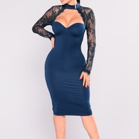 The Case of Lace Dress - Teal