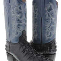 Men's Blue Crocodile Alligator Leather Cowboy Boots Western Rodeo 13.5 NEW