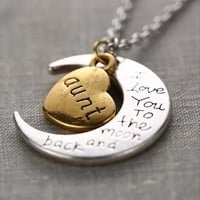 To The Moon & Back Necklace - Aunt