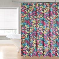 Regal Home Watercolor Floral Fabric Shower Curtain
