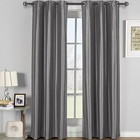 GRAY 42x84 Soho Grommet Thermal coating Blackout Window Curtain (Single Panel)
