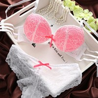 Sexy Lady Womens Set Lace Lingerie Underwear Push-Up Padded Bra Underwire Outfits