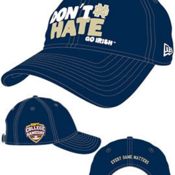 NEW ERA CAP COMPANY,INC. : 'Don't Hate' Go Irish College Gameday Cap : Hammes Notre Dame Bookstore : www.nd.bkstr.com