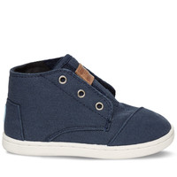 TOMS Navy Canvas Tiny TOMS Paseo Mids Blue