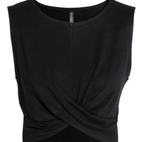 Draped Jersey Top - from H&M