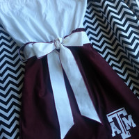 Texas A&M Aggies Game Day Strapless Dress by MaureenMakesIt