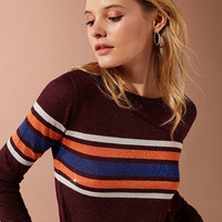 UO Diane Striped Lurex Sweater | Urban Outfitters