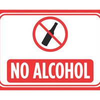 """No Alcohol"" Swimming Pool Sign"
