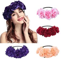 Wedding Flower Crown Bridal Hair Wreath, Women Wedding Floral Head Wreath, Gifts