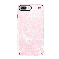 Speck Products Presidio Inked Cell Phone Case for iPhone 7 Plus- Fresh Floral Rose/Magenta Pink