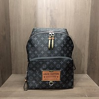 LV Louis Vuitton DISCOVERY canvas large-capacity backpack