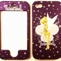 Tinkerbell Purple iPhone 4 4G 4S Faceplate Case Cover Snap On