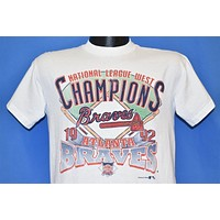 90s Atlanta Braves NL West Champs t-shirt Youth Extra Large