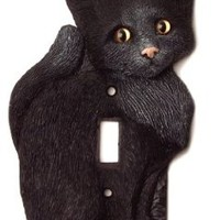 House Kitty Cat Is Adorable Black Cat Switch Plate Cover