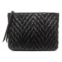 Banana Republic Quilted Pouch Size One Size - Black