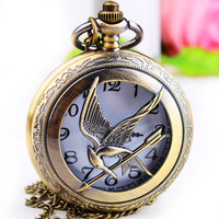 1PC Antique Bronze Pocket Watch Necklace Chain Pendant Long !ONS = 4482174084